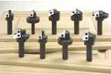 Insert router bits for MDF door production