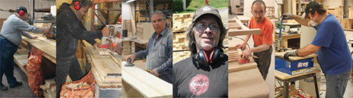 Proud to produce: The faces of LakeCity Woodworkers.