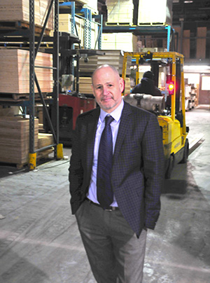 Jonathan Glick, on the warehouse floor. The Cutler Group now thinks of itself as a full-service distributor providing unique, value-added services, he says.