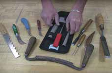 Sharpening kit for turners and carvers