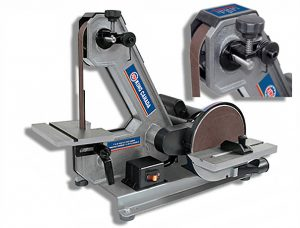 Belt and disc sander driven by 5.8 A motor