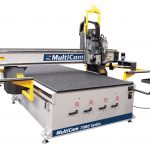 CNC router calibrates tools automatically