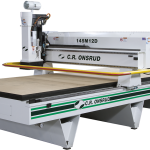 CNC router has rigid frame construction