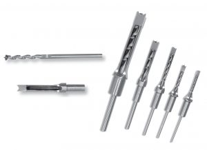 Hollow mortising chisels and bits