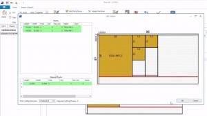 Cut pattern optimization software