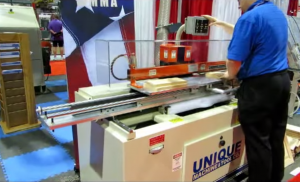 Machine produces cabinet door in two minutes