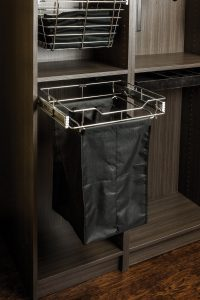 Pullout hamper for closets
