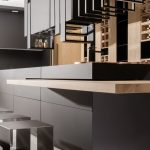 Matte material for cabinet doors