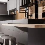 Matte material for cabinet doors