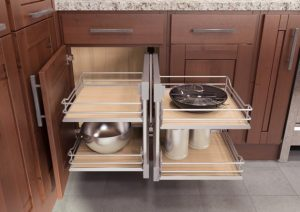 System adds space to corner cabinets