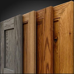 Distressed look cabinet fronts and doors