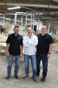 The Woodwork+Pub executive team: Maurice Peloquin (left), Cory Brightwell and Brent Bell.