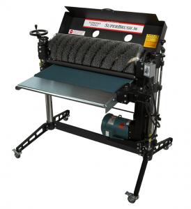 Single brush sanding machines