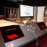 Cut center simplifies cabinet construction without programming