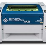 Laser engraving system features large table