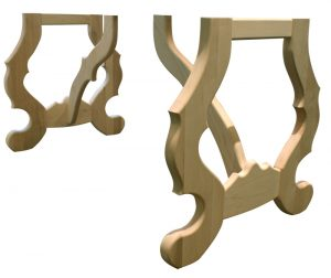French scroll table base kit in four species