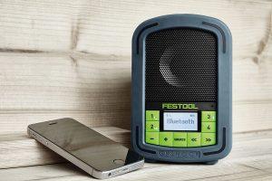 Jobsite radio features Bluetooth streaming