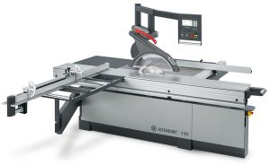 Sliding table saw provides low vibration levels