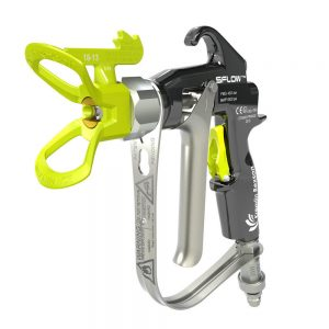 Manual airless spray gun and package