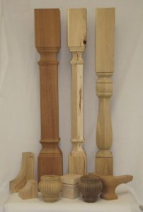 Structural and decorative wood components