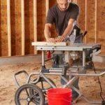 Ten-inch heavy duty worm drive table saw