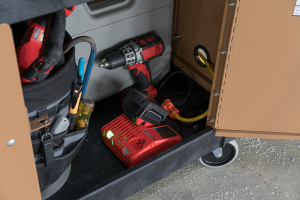 Secured storage provides efficiency and security on the jobsite