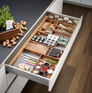 Modular wood divider system for drawer interiors