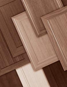 Decorative laminate veneer door